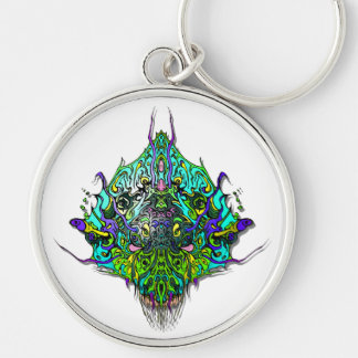 Alien Head Evil Species # 44 - Aqua Key Chain