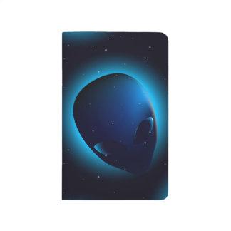 Alien head in space journal