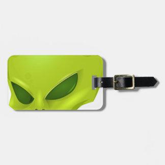 Alien Head Luggage Tag