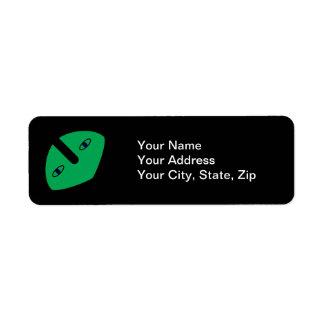 Alien Head on Green Return Address Label