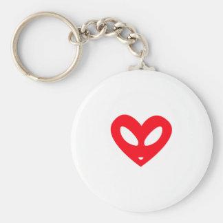 Alien Heart Key Chains