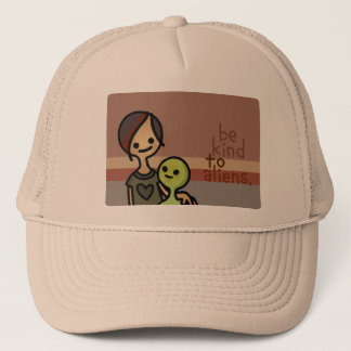 alien helmet. trucker hat