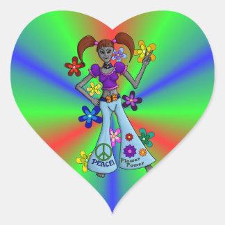 Alien Hippy Heart Stickers