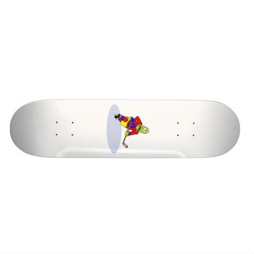 Alien Hockey Player Skateboard Decks