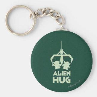 Alien Hug Basic Round Button Keychain
