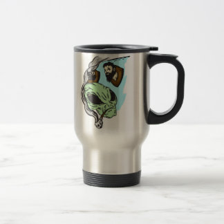 Alien Human Head Trophies Travel Mug