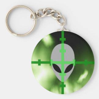 Alien Hunter Basic Round Button Keychain