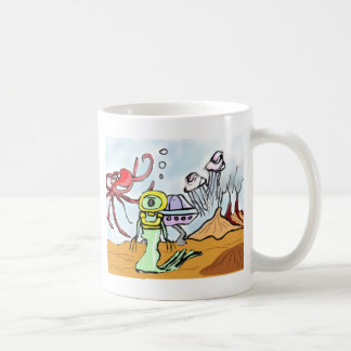 Alien Hunting Sunken Treasure Coffee Mug