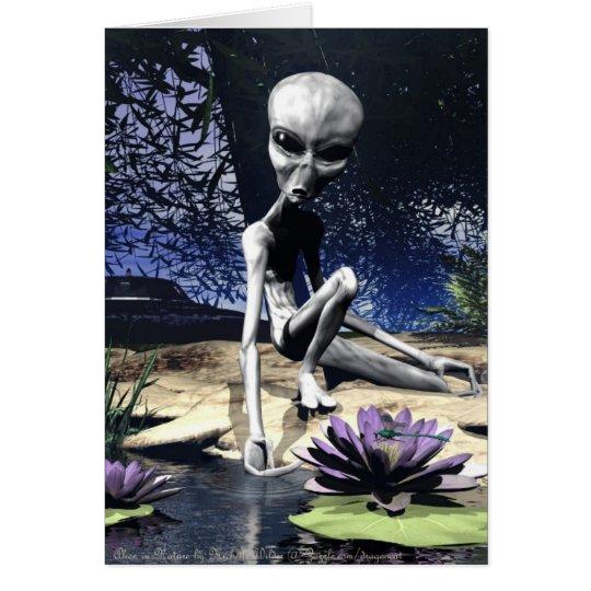Alien in Nature Card