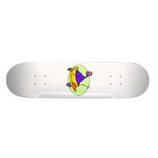 Alien in space ship skateboard decks