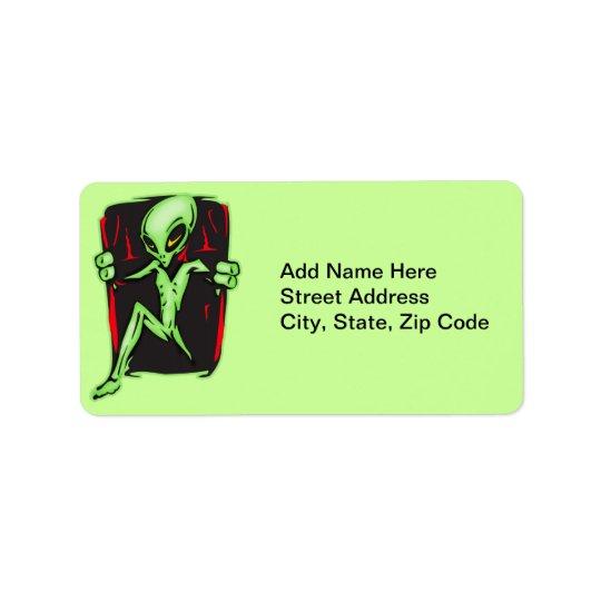 Alien Invades Your Home Label