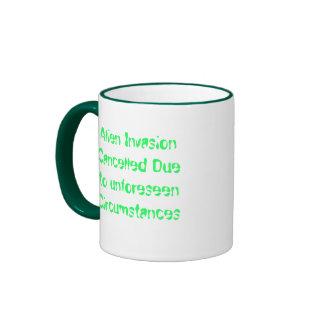 Alien Invasion Cance... Ringer Coffee Mug