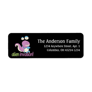 Alien Invasion Outer Space Fun Address Labels