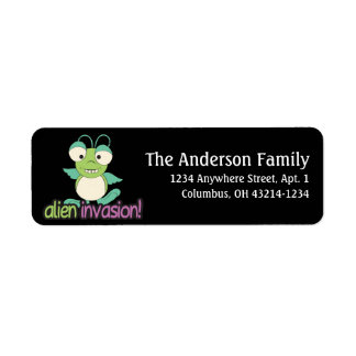Alien Invasion Outer Space Fun Address Labels d3