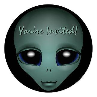 Alien Invitations Personalized Cute Alien Art RSVP