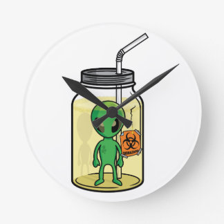ALIEN JAR ROUND CLOCK