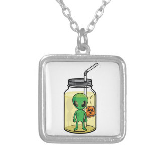 ALIEN JAR SILVER PLATED NECKLACE