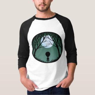 Alien Jersey Shirt Alien w. Moon Baseball Jersey