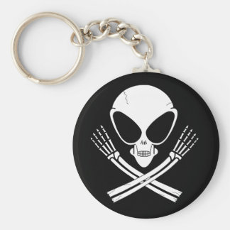 alien jolly rodger keychain