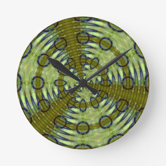 Alien Jungle Round Clock