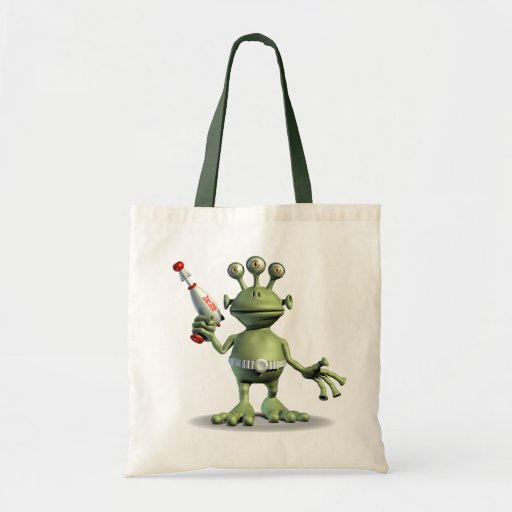Alien Laser Gun Canvas Bags