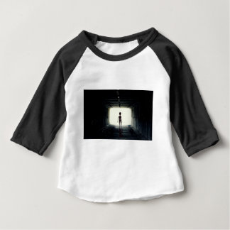 Alien Leaving Spaceship Baby T-Shirt