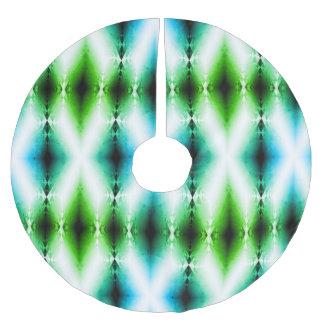 Alien Light Beam Bright Blue Green Teleport Future Brushed Polyester Tree Skirt