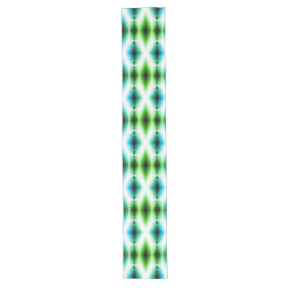 Alien Light Beam Bright Blue Green Teleport Future Long Table Runner