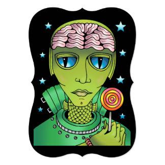 Alien Lollipop Card