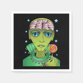 Alien Lollipop Napkin