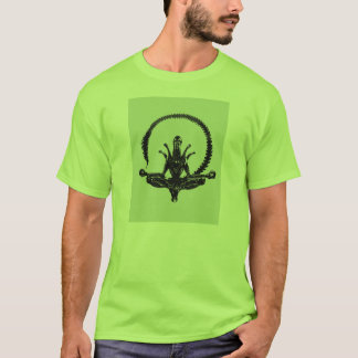 Alien Lotus Position - Find your center and burst T-Shirt