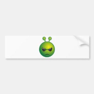alien mad bumper sticker