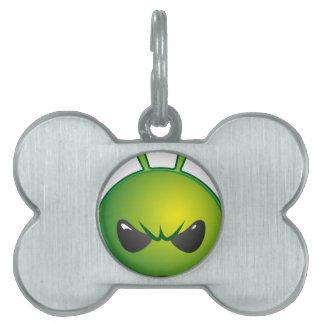 alien mad pet ID tag