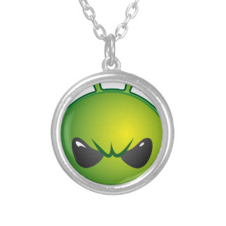 alien mad silver plated necklace