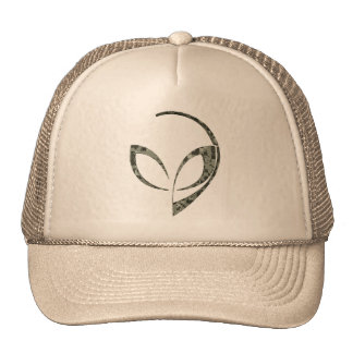 Alien Mascot in Gray Digital Camo Trucker Hat