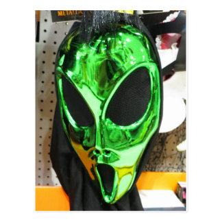 Alien Mask Postcard