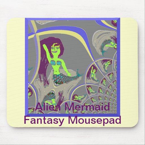 Alien Mermaid Fantasy Mousepad