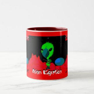 Alien Migration Two-Tone Coffee Mug