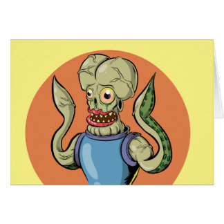 Alien Monster Card