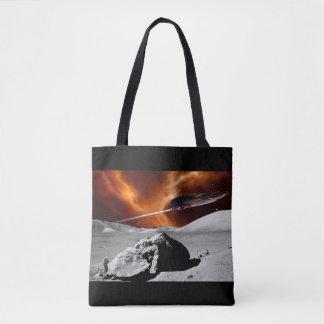 Alien Moon Tote Bag