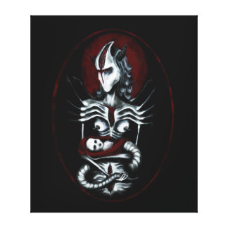 Alien mother painting - dark fantasy art canvas print