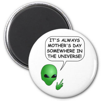 Alien Mother's Day 2 Inch Round Magnet