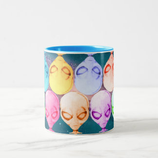 Alien Mug, multicolored Two-Tone Coffee Mug