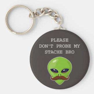 Alien Mustache Keychains