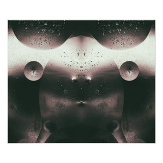 Alien Oil Droplets Monochrome Photo Print