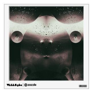 Alien Oil Droplets Monochrome Wall Decal
