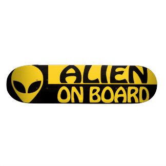 ALIEN ON BOARD SKATEBOARD DECK