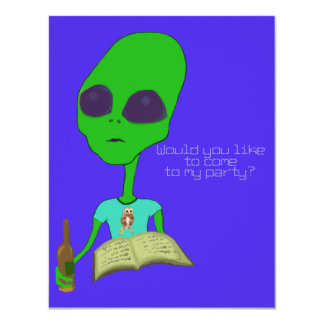 Alien Party Invite
