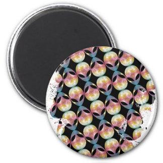 Alien Pattern 2 Inch Round Magnet