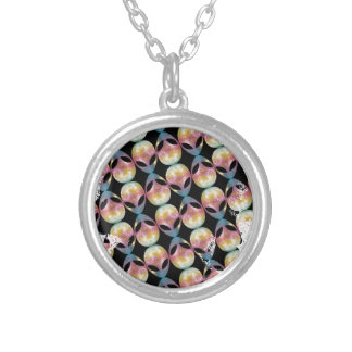 Alien Pattern Silver Plated Necklace
